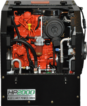 HP2000 Auxiliary Power Unit Front View Open Cover